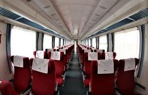 First class Kenya SGR Train sitting arrangement